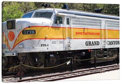 Train On Railroad Track, Grand Canyon Railway, Grand Canyon National Park, Arizona, USA Canvas Art Print