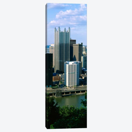Buildings at the waterfront, Monongahela River, Pittsburgh, Pennsylvania, USA Canvas Print #PIM1497} by Panoramic Images Canvas Art Print