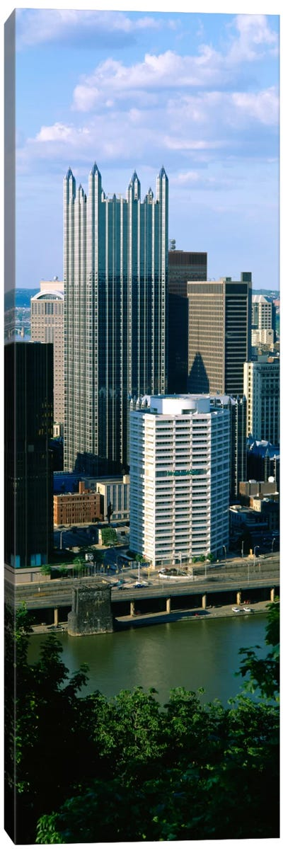 Buildings at the waterfront, Monongahela River, Pittsburgh, Pennsylvania, USA Canvas Print #PIM1497