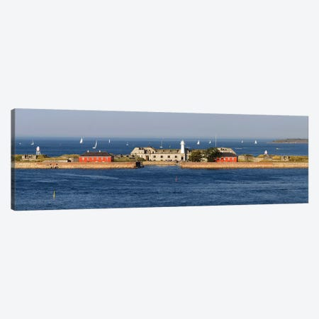 Trekroner Fort Seen From Copenhagen Harbor, Copenhagen, Denmark Canvas Print #PIM14987} by Panoramic Images Canvas Print