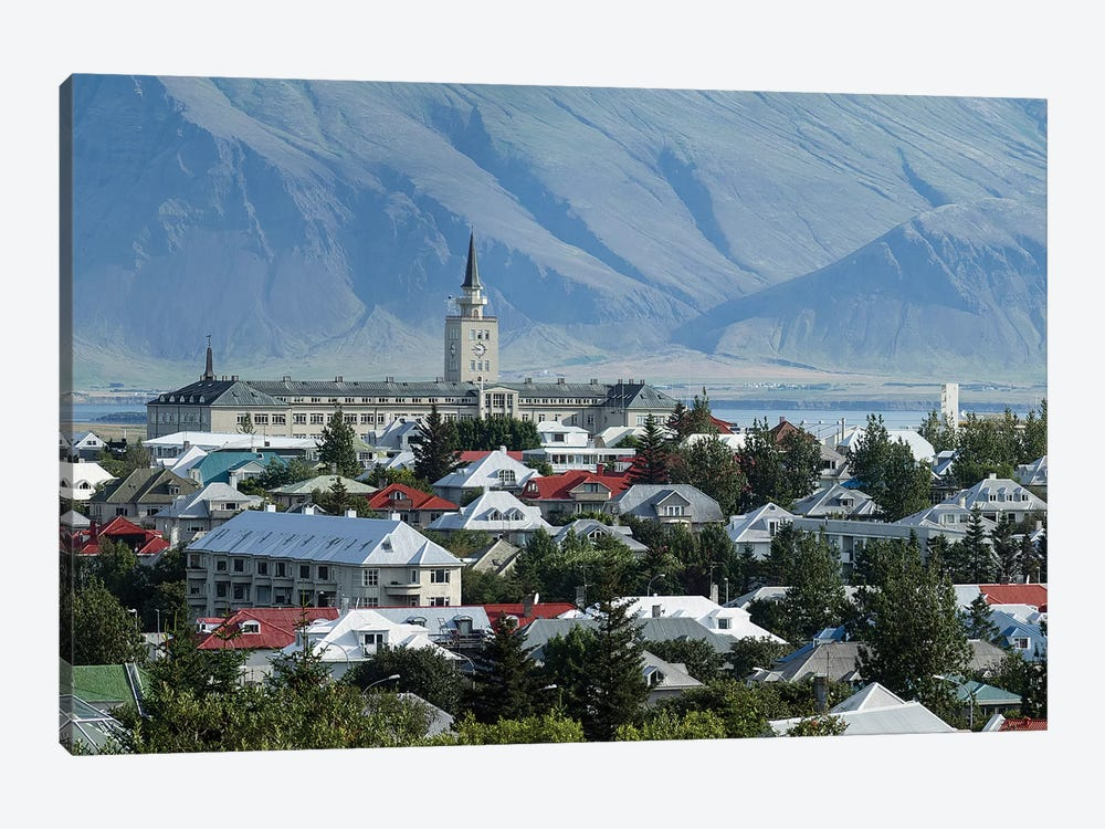 View Of City From The Top Of Perlan Building (Oskjuhlid Hill), Reykjavik, Iceland by Panoramic Images 1-piece Art Print