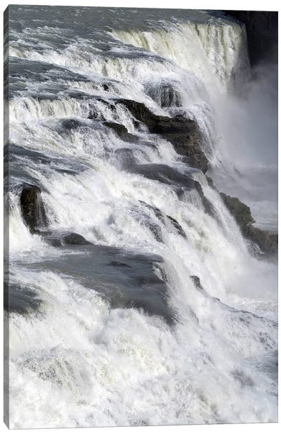 View Of Gullfoss Falls On The Hvita River, Iceland Canvas Art Print