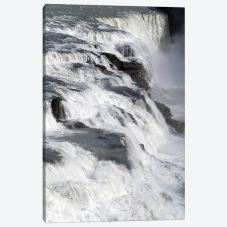 View Of Gullfoss Falls On The Hvita River, Iceland Canvas Print #PIM14996} by Panoramic Images Canvas Artwork