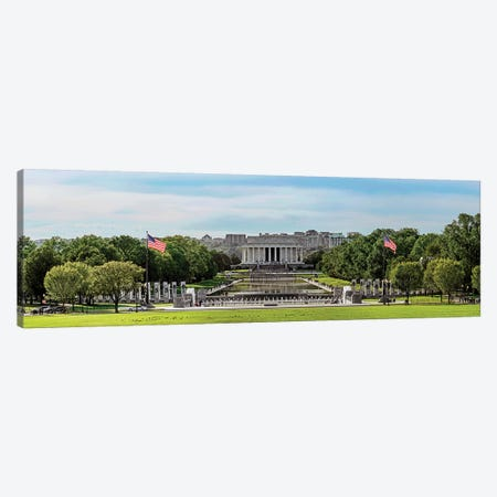 View Of Lincoln Memorial And National World War II Memorial, Washington D.C., USA Canvas Print #PIM14998} by Panoramic Images Canvas Print