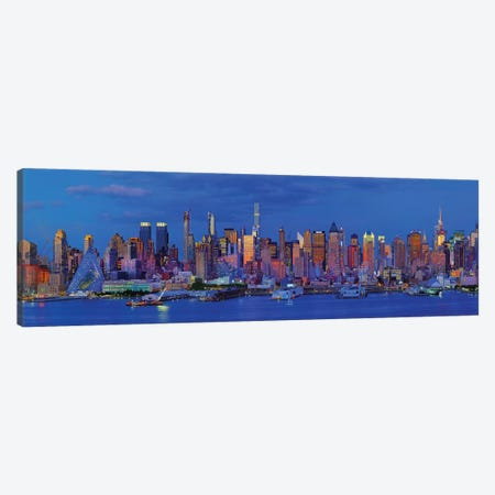 View Of Manhattan Skyline, New York City, New York State, USA I Canvas Print #PIM14999} by Panoramic Images Canvas Art Print