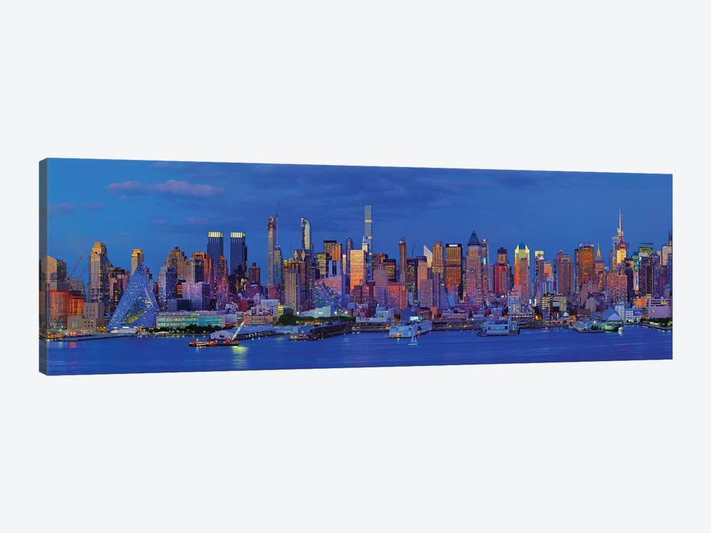 View Of Manhattan Skyline, New York City, New York State, USA I by Panoramic Images 1-piece Canvas Art