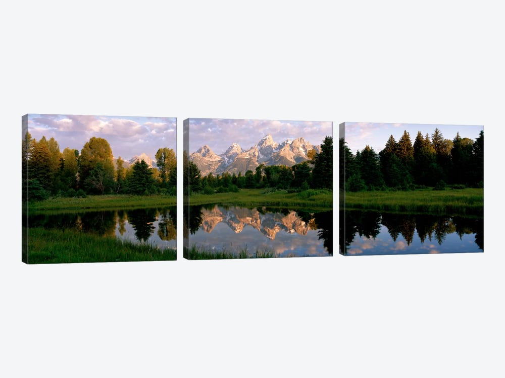 Grand Teton Park, Wyoming, USA 3-piece Canvas Artwork