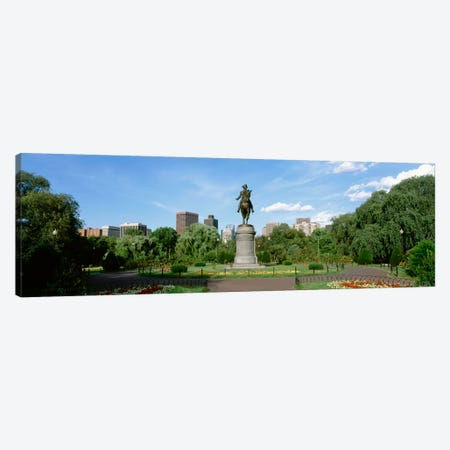 George Washington Equestrian Statue, Boston Public Garden, Boston, Massachusetts, USA Canvas Print #PIM14} by Panoramic Images Canvas Wall Art