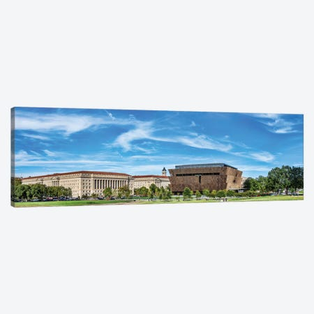 View Of National Museum Of African American History And Culture, Washington D.C., USA 3-Piece Canvas #PIM15003} by Panoramic Images Canvas Artwork
