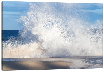 View Of Surf On The Beach, Hawaii, USA I Canvas Art Print