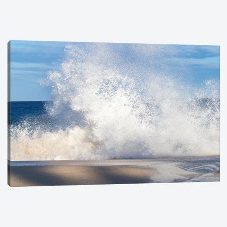 View Of Surf On The Beach, Hawaii, USA I Canvas Print #PIM15010} by Panoramic Images Canvas Art Print