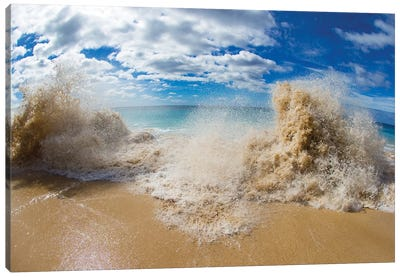 View Of Surf On The Beach, Hawaii, USA II Canvas Art Print