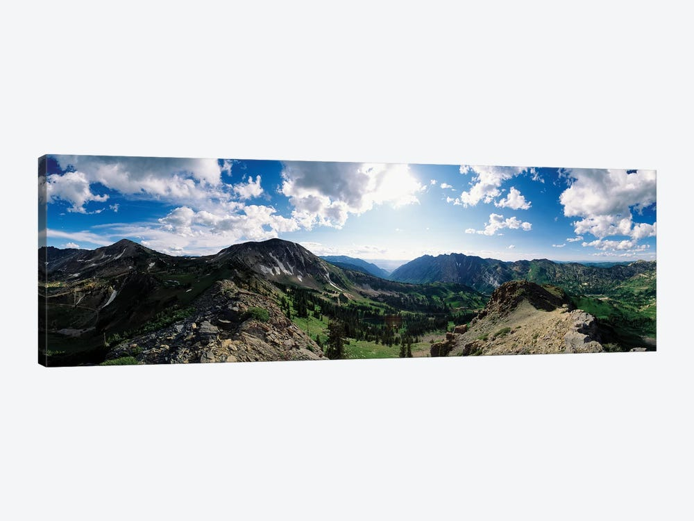 View Of Valley With Mountains, Alta, Salt Lake County, Utah, USA by Panoramic Images 1-piece Canvas Art Print