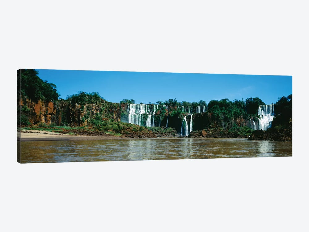 Waterfall In A Forest, Iguacu Falls, Iguacu National Park, Argentina I 1-piece Art Print