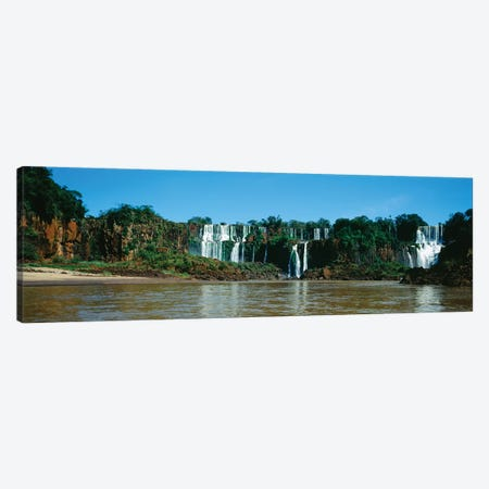 Waterfall In A Forest, Iguacu Falls, Iguacu National Park, Argentina I Canvas Print #PIM15018} by Panoramic Images Canvas Art Print