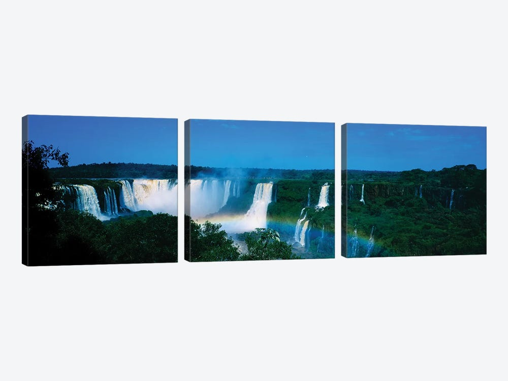 Waterfall In A Forest, Iguacu Falls, Iguacu National Park, Argentina II by Panoramic Images 3-piece Canvas Wall Art
