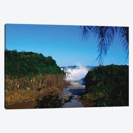 Waterfall In A Forest, Iguacu Falls, Iguacu National Park, Argentina III Canvas Print #PIM15020} by Panoramic Images Canvas Wall Art
