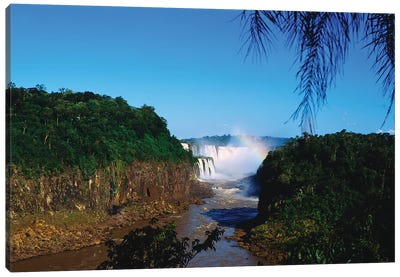 Waterfall In A Forest, Iguacu Falls, Iguacu National Park, Argentina III Canvas Art Print
