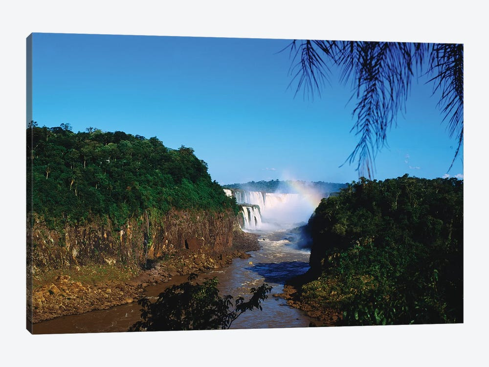 Waterfall In A Forest, Iguacu Falls, Iguacu National Park, Argentina III by Panoramic Images 1-piece Canvas Artwork