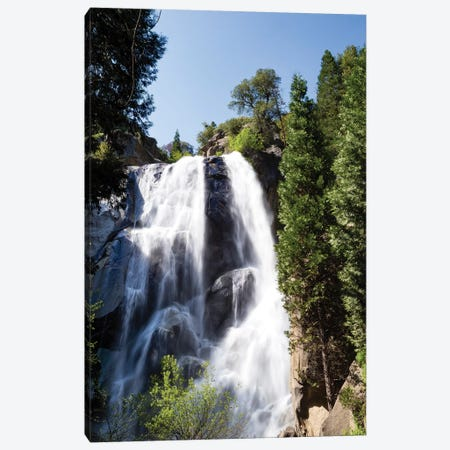 Waterfall In A Forest, Sequoia National Park, California, USA Canvas Print #PIM15023} by Panoramic Images Canvas Artwork