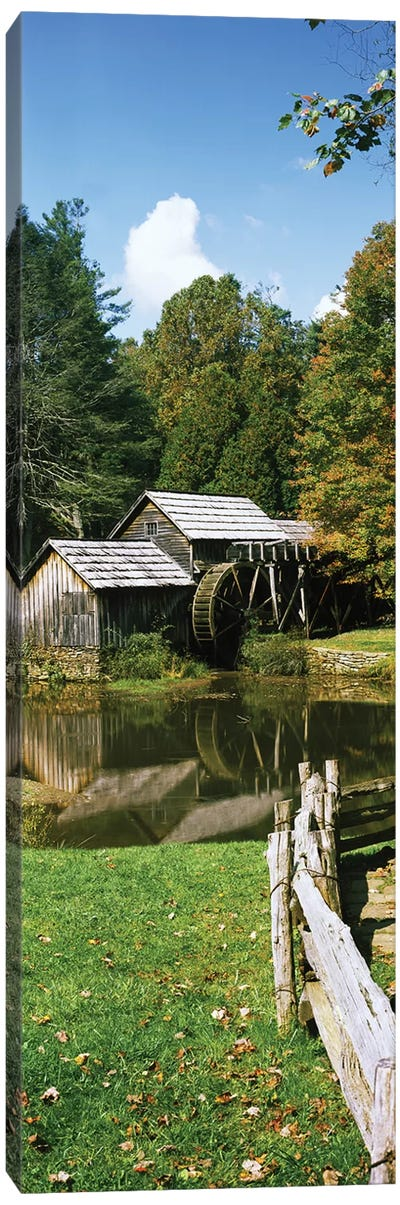 Watermill Near A Pond, Mabry Mill, Blue Ridge Parkway, Floyd County, Virginia, USA II Canvas Art Print