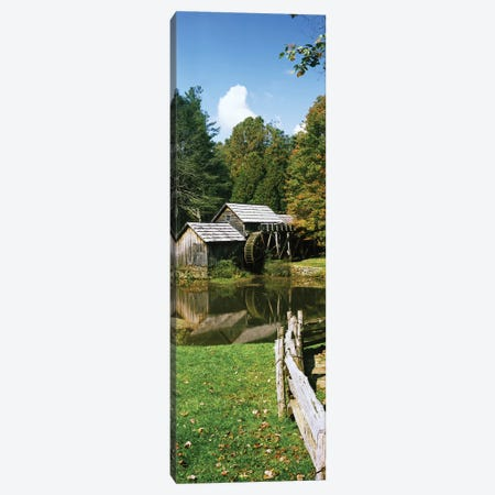 Watermill Near A Pond, Mabry Mill, Blue Ridge Parkway, Floyd County, Virginia, USA II Canvas Print #PIM15029} by Panoramic Images Canvas Artwork