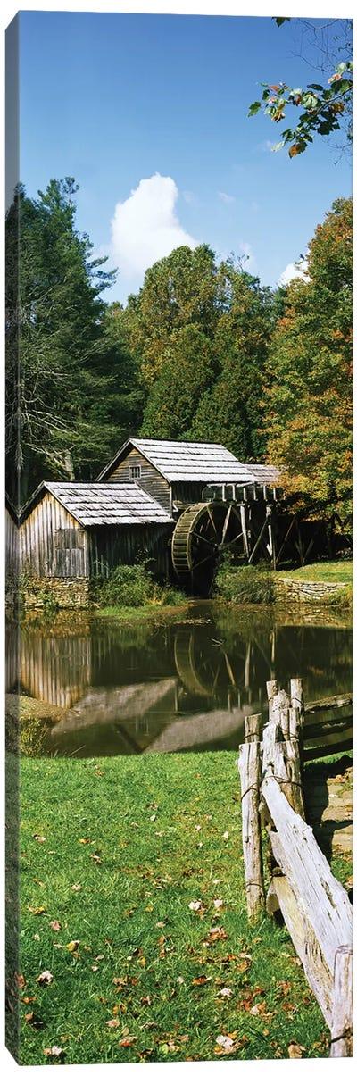 Watermill Near A Pond, Mabry Mill, Blue Ridge Parkway, Floyd County, Virginia, USA II Canvas Art Print