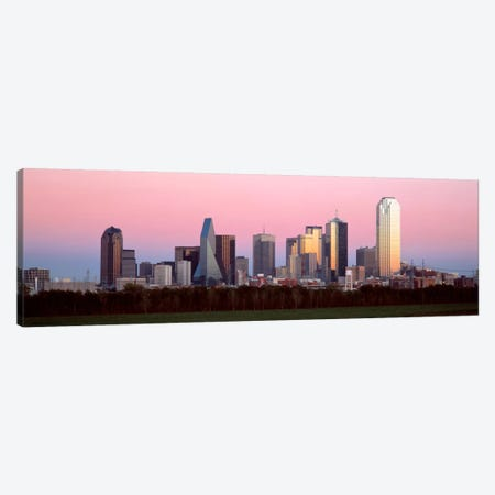 Twilight, Dallas, Texas, USA Canvas Print #PIM1502} by Panoramic Images Canvas Artwork