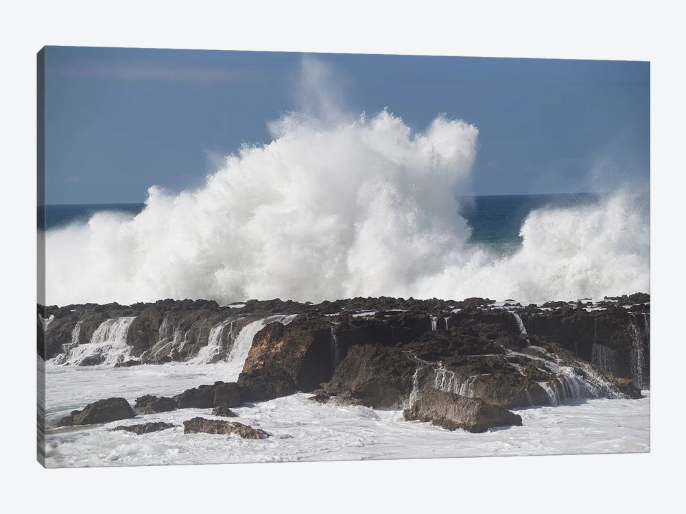 Waves Breaking On The Coast, Hawaii, USA by Panoramic Images 1-piece Canvas Print