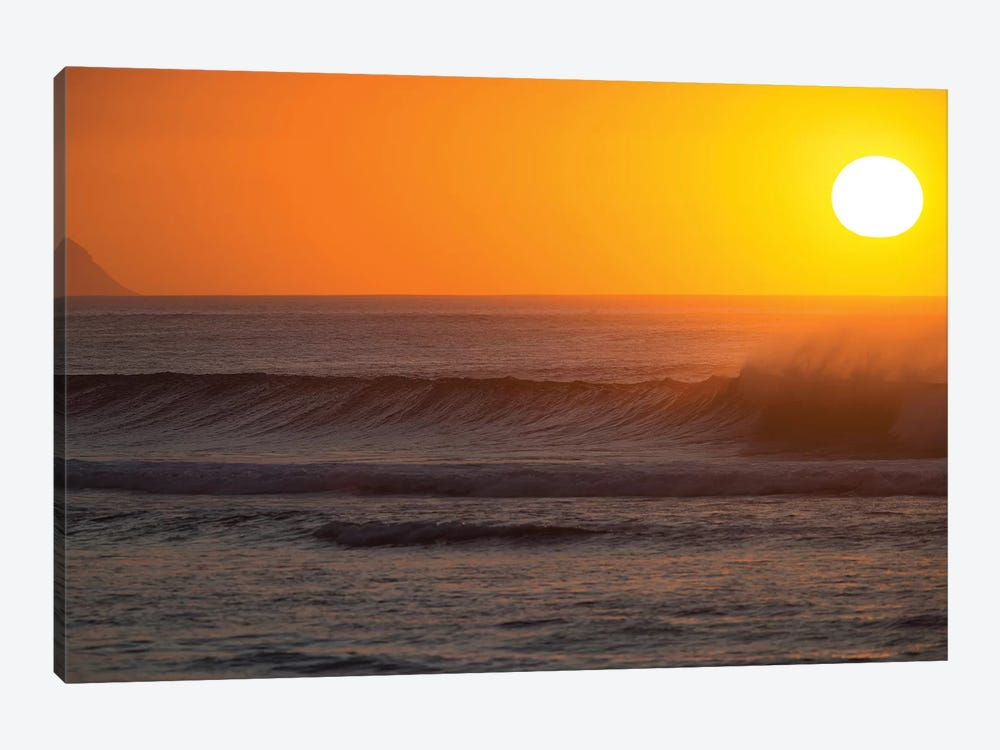 Waves In Pacific Ocean At Sunset, Hawaii, USA by Panoramic Images 1-piece Canvas Print