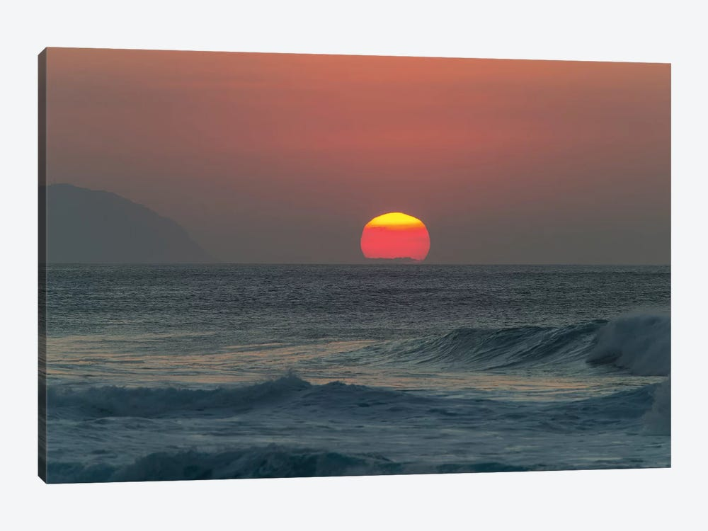 Waves In The Ocean At Sunset by Panoramic Images 1-piece Art Print