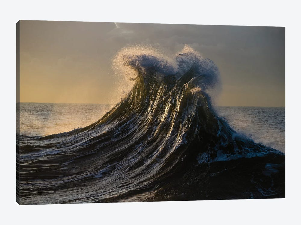 Waves In The Pacific Ocean At Dusk, San Pedro, Los Angeles, California, USA I 1-piece Canvas Artwork