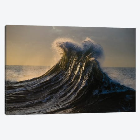 Waves In The Pacific Ocean At Dusk, San Pedro, Los Angeles, California, USA I Canvas Print #PIM15035} by Panoramic Images Canvas Art