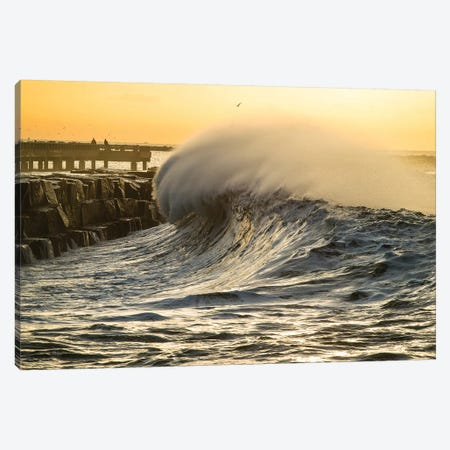 Waves In The Pacific Ocean At Dusk, San Pedro, Los Angeles, California, USA II Canvas Print #PIM15036} by Panoramic Images Canvas Wall Art