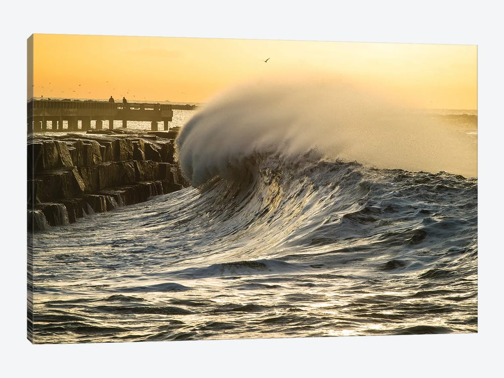 Waves In The Pacific Ocean At Dusk, San Pedro, Los Angeles, California, USA II by Panoramic Images 1-piece Art Print