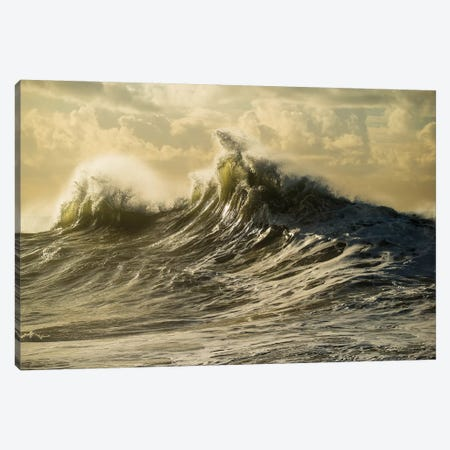 Waves In The Pacific Ocean At Dusk, San Pedro, Los Angeles, California, USA IV Canvas Print #PIM15038} by Panoramic Images Canvas Art Print