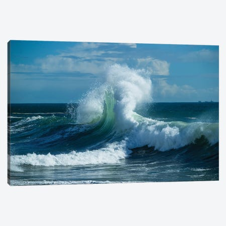Waves In The Pacific Ocean At Dusk, San Pedro, Los Angeles, California, USA VI Canvas Print #PIM15040} by Panoramic Images Canvas Art