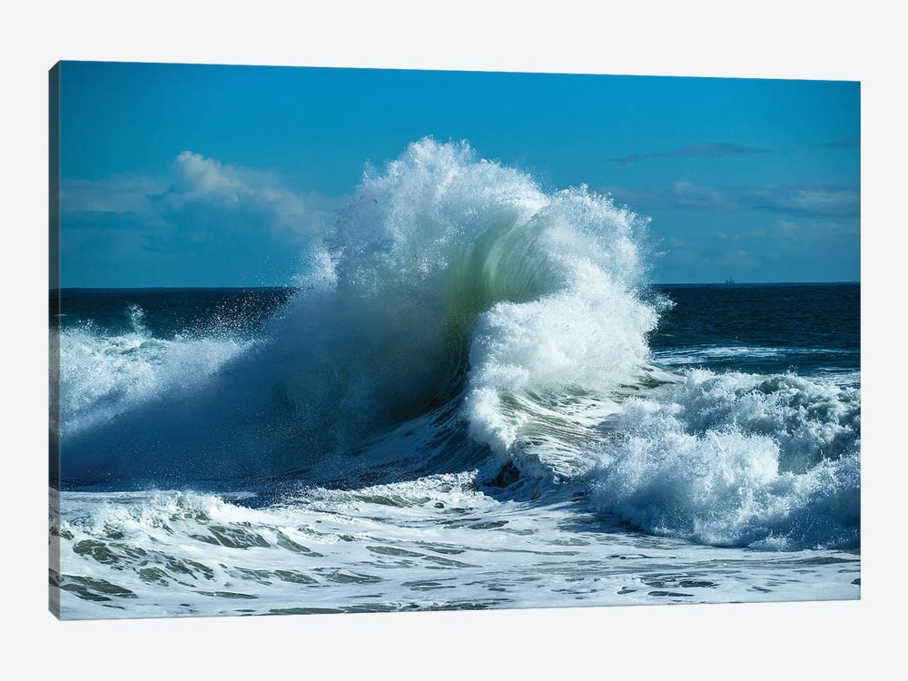 Waves In The Pacific Ocean At Dusk, San Pedro, Los Angeles, California, USA VII by Panoramic Images 1-piece Canvas Art Print