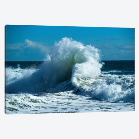 Waves In The Pacific Ocean At Dusk, San Pedro, Los Angeles, California, USA VII Canvas Print #PIM15041} by Panoramic Images Canvas Artwork
