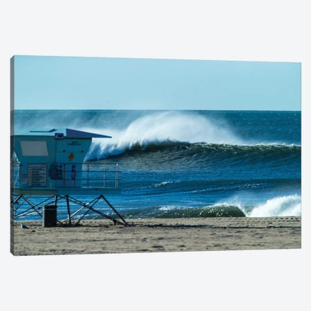 Waves In The Pacific Ocean, Huntington Beach, Orange County, California, USA Canvas Print #PIM15043} by Panoramic Images Canvas Art