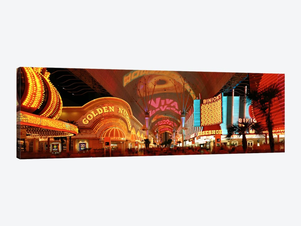 Fremont Street Experience Las Vegas NV USA by Panoramic Images 1-piece Canvas Artwork