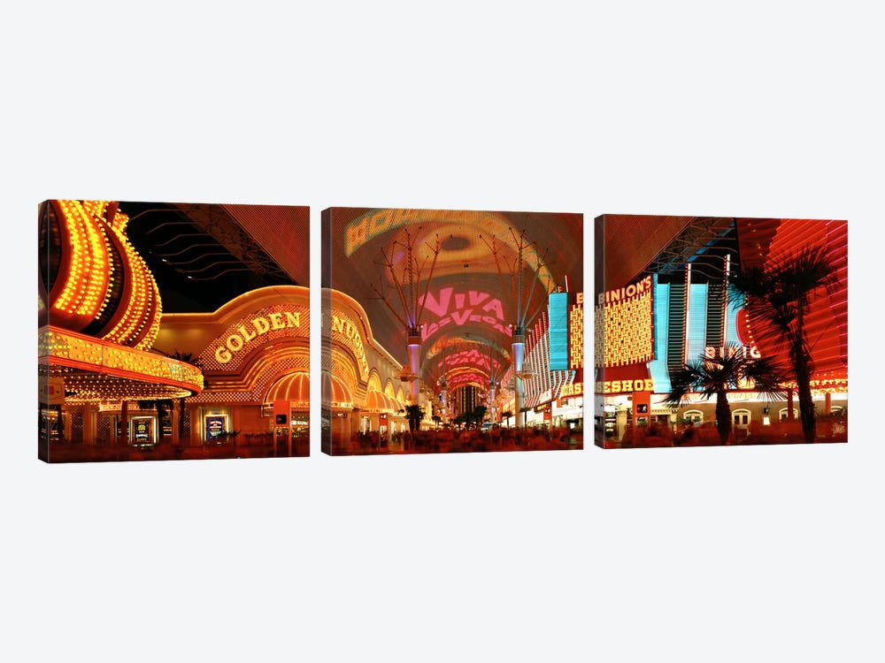 Fremont Street Experience Las Vegas NV USA by Panoramic Images 3-piece Canvas Art