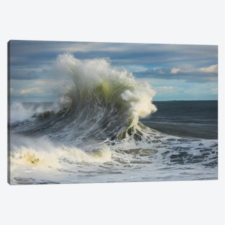Waves In The Pacific Ocean, San Pedro, Los Angeles, California, USA I Canvas Print #PIM15051} by Panoramic Images Art Print