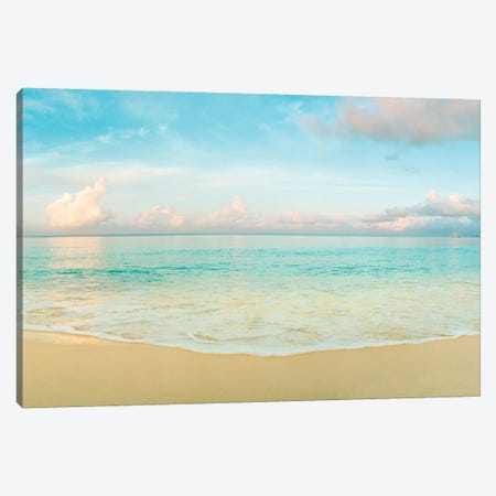 Waves On The Beach, Seven Mile Beach, Grand Cayman, Cayman Islands Canvas Print #PIM15057} by Panoramic Images Canvas Art