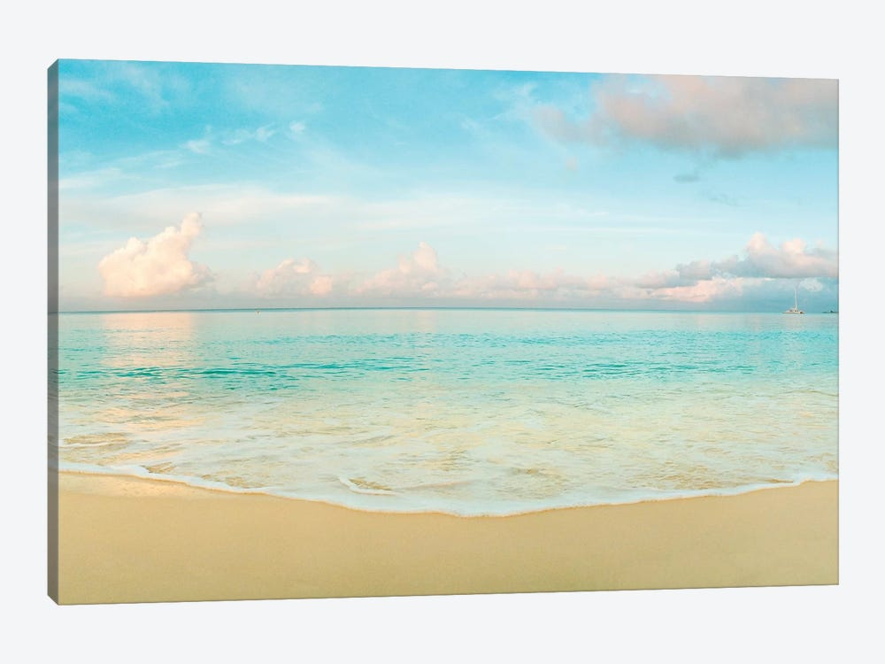 Waves On The Beach, Seven Mile Beach, Grand Cayman, Cayman Islands by Panoramic Images 1-piece Canvas Art