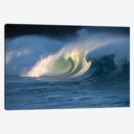 Waves Splashing On Beach, Hawaii, USA Canvas Print #PIM15059} by Panoramic Images Art Print