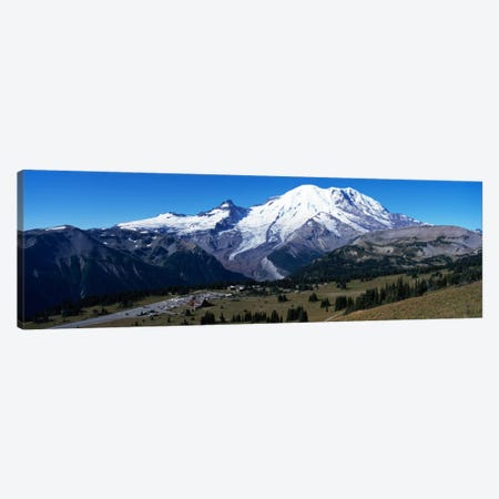 Snowcapped mountain, Mt Rainier, Mt Rainier National Park, Pierce County, Washington State, USA Canvas Print #PIM1505} by Panoramic Images Canvas Print