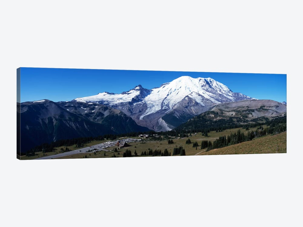 Snowcapped mountain, Mt Rainier, Mt Rainier National Park, Pierce County, Washington State, USA by Panoramic Images 1-piece Art Print