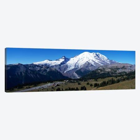 Snowcapped mountain, Mt Rainier, Mt Rainier National Park, Pierce County, Washington State, USA Canvas Print #PIM1505} by Panoramic Images Canvas Print