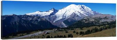 Snowcapped mountain, Mt Rainier, Mt Rainier National Park, Pierce County, Washington State, USA Canvas Art Print